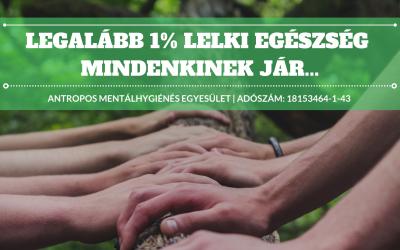 Adód 1%-a a lelki egészségért!